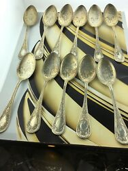 11 Vintage Pat. Appifoh Sterling Silverware 925 Small Spoons Code 13
