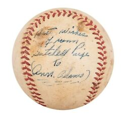 Satchel Paige Single Signed Autographed Vintage 1950's Baseball With Beckett Coa