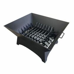 Masterflame 36 X 30 Square Steel Fire Pit With Grate