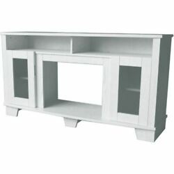 Cambridge Savona Electric Fireplace Heater With 59 White Tv Stand
