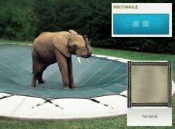 Ultra-loc Iii Solid Tan Cover For 16 X 36 Pool With Mesh Drain Panels
