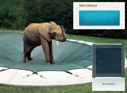 Looploc Inground Mesh Blue Safety Cover For 20and039 X 44and039 Rectangular Pool
