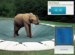 Looploc Solid Blue Cover For 16 X 32 Pool, Mesh Drain Panels, 4 X 6 Center End