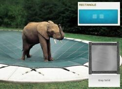 Ultra-loc Iii Solid Gray Cover For 16 X 34 Pool With Mesh Drain Panels