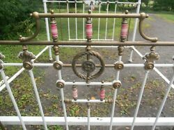 Antique Ornate Brass / Metal Bed Rare Size King