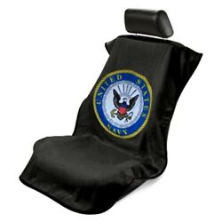 1- Seat Armour Seat Protector Cover/towel With Us Navy Logo