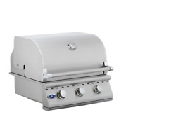 26 Stainless Steel Built In Outdoor Barbecue Island Grill 3 Burner Drop In Bbq