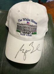 White House Golf Club Rare Hat Signed By President George W. Bush