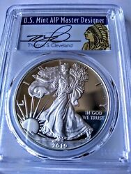2019 W 1 Proof Silver Eagle Pcgs Pr70dcam Fs Cleveland Native I Of 500 Issue