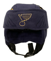 Zephyr Nhl St. Louis Blues Rink Rat Helmet Replica Hat Brand New With Tags