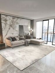 Nordic Simple Living Room Carpet Grey Light Luxury Home Thick Rug For Bedroom