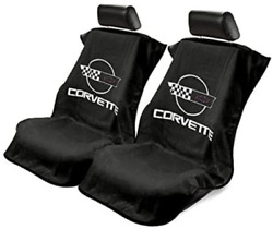 2 - Seat Armour Seat Protector Cover/towel With C4 Corvette Logo