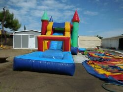 Commercial Inflatable Bounce House Combo Slide Pool