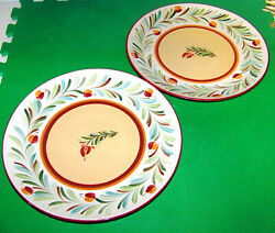 Southern Living At Home 2 Sienna Dinner Plates Gail Pittman 11 W New Wo-box