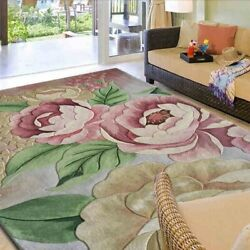 Flowers On Carpets Wool Ingredient For Parlor Living Room Bedroom Full Size Mat