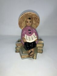Vintage Mccarty Brothers California Pottery Asian Planter