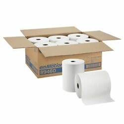 Georgia Pacific enMotion 89460 Paper Towel Roll 10quot; x 800#x27; White 1 Ply 6 Ct