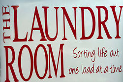 Laundry Room Sorting Life Wall Vinyl Decal Sticker Home and Family Wall Art