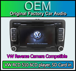 Vw Rcd 510 With Reverse Camera Input Vw Eos Touchscreen Radio Stereo 6cd Player