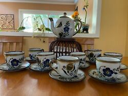 8 Settings Mexican Signed Noe Suro Pottery