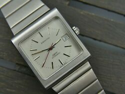 70and039s Vintage Watch Mens Zenith Defy Ref 02.0440.456-460 Square Tv Automatic Rare