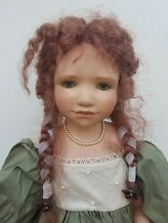 Wpm Waltershauser Puppen 27 Doll Germany Vinyl Girl Red Mohair