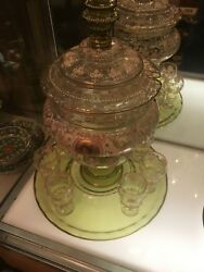 """Moser. Rare Highly Decorative Bohemian Glass Punch Bowl And 7 Cups 18"""" Inches"""