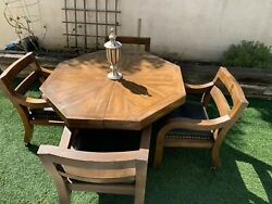 american Of Martinsville Octagon Mid Century Table Chairs