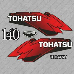 Tohatsu 140hp Two Stroke Outboard Engine Decals Sticker Set Reproduction 140 Hp