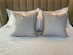 New Pair Fortuny Fabric Pillows In Bivio And Fugue Patterns 23x22