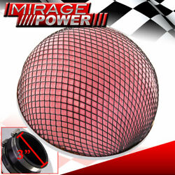 Universal 3 76mm Inlet Mushroom Filter Red Foam Short And Cold Air Turbo Intake
