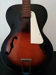 Vintage Kay Archtop Acoustic Guitar 1950s 1960s Neck Is Straight Very Cool