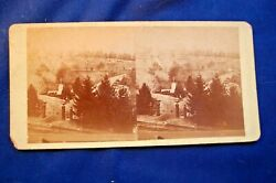 Stereoview Of The General View Of National Cemetery, Gettysburg