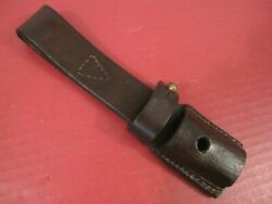 Post-wwii Yugoslavian Leather Bayonet Frog For M48 Or K98 Mauser Rifle Bayonet 2