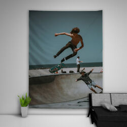 Skateboard Sport Tapestry Art Wall Hanging Sofa Table Bed Cover Poster