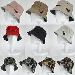 Men Women Bucket Hat Cotton Cap Fishing Camping Boonie Brim Visor Sun Summer $6.95