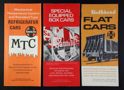 1970 Atsf Santa Fe Special Equipped Flat Refrigerated Freight Cars Folder Guides