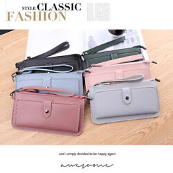 Fashion Women Leather Clutch Wallet Zip Long Purse Card Phone Holder Handbag $8.95