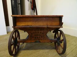 """Antique """"chief Scout"""" Toy Wood Wagon"""