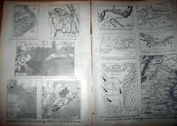 Civil War 11 Maps And Battle Plans On 2 Pages 1890and039s Original Old Prints
