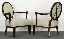 Pair Of Barbara Barry Armchairs For Baker Furniture, 1990s