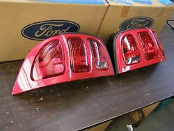 Nos Oem Ford 1996 1997 1998 Mustang Tail Lights Lamps Pair Red Cobra Gt Lenses
