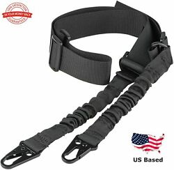 Tactical Two Point Rifle Sling Gun Sling Shoulder Strap with Metal Hook $9.98