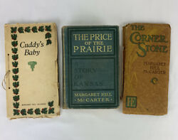 Lot Of 2 Cuddy's Baby Andthe Price Of The Prairie Margaret Hill Mccarter 1912 1913