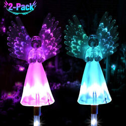 Solar Powered Angel Outdoor Decor Light For Garden Yard Patio Cemetery Grave