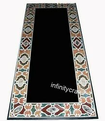 30 X 72 Inches Marble Kitchen Table Top Black Hallway Table With Cottage Crafts