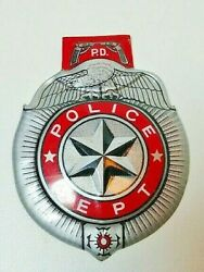 1950s 60s Toy Vintage Tin Litho Police Dept Badge Cops And Robbers