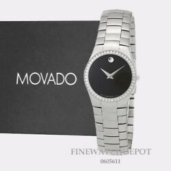 Authentic Movado Strato Womenand039s Swiss With Diamond Watch 0605611