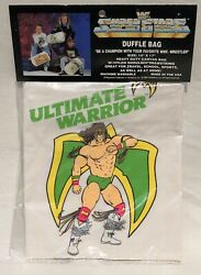 Rare Sealed Mint 1990 Vintage Wwf Ultimate Warrior Duffle Bag Nos New Old Stock