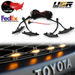 Drl Wire Included Smoke Snap On 4pcs Raptor Led Grill Light For 2014-21 4runner